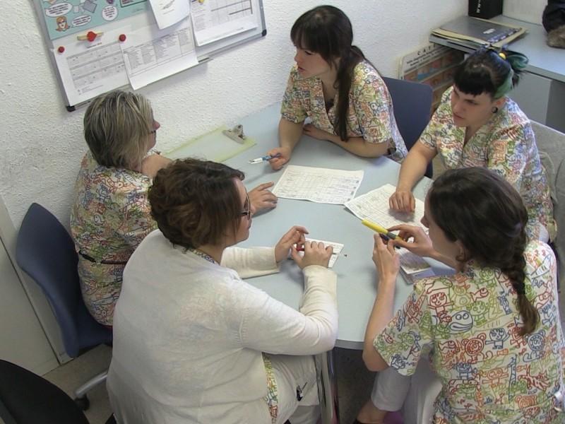 cambio de turno enfermero